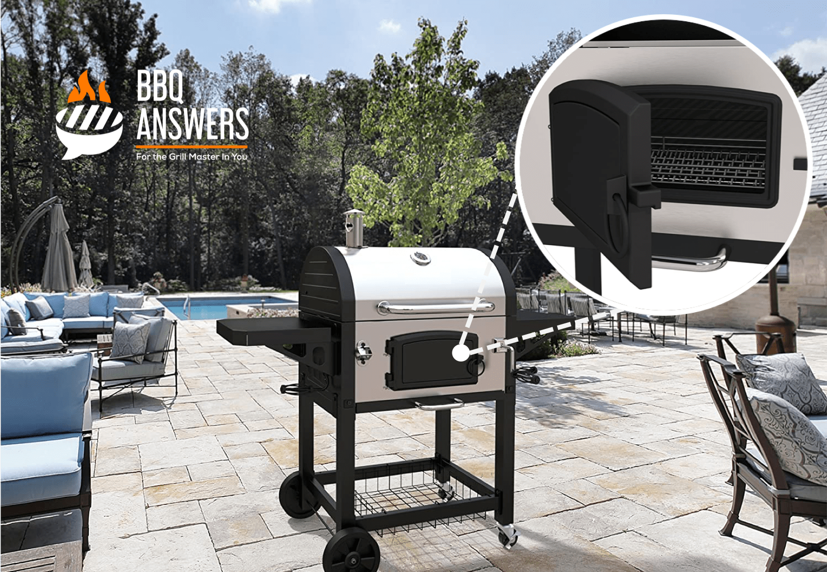 Dedicated Fire Door | Charcoal Grill | BBQanswers