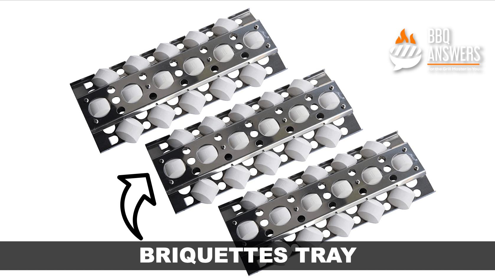 Briquette Tray   Ceramic Briquettes   BBQanswers