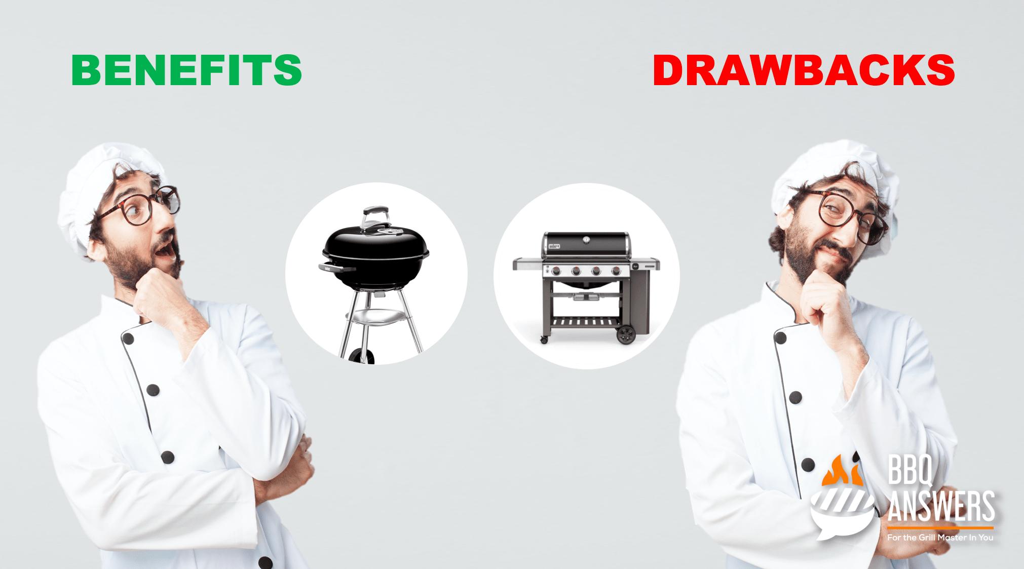 Benefits vs Drawbacks of Gas Grill & Charcoal Grill | BBQanswers