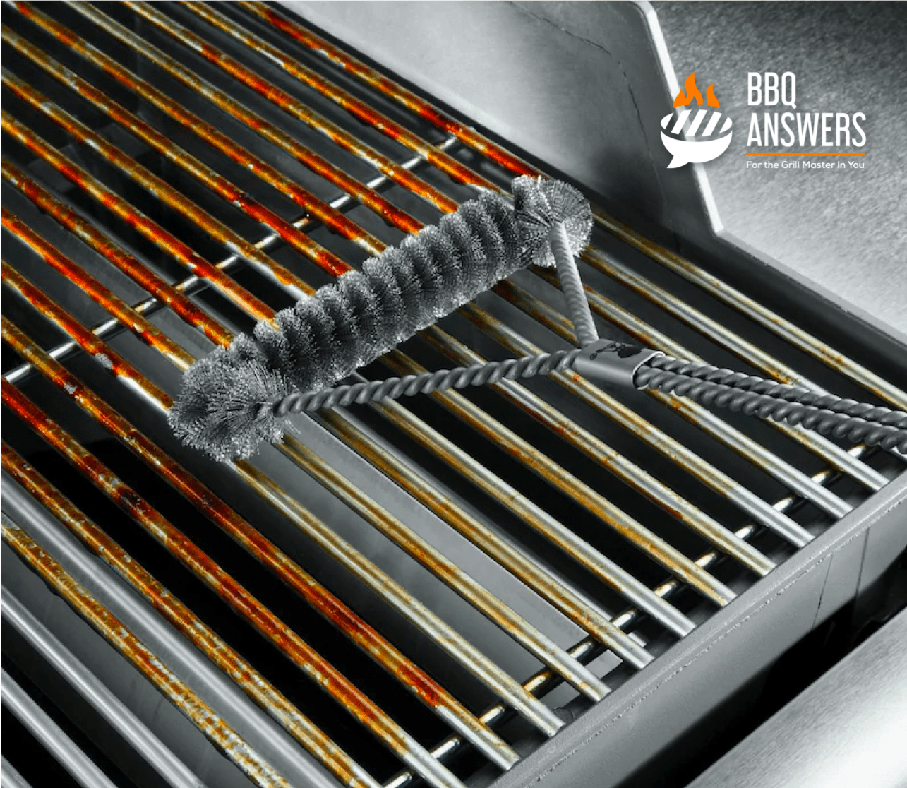 Cleaning BBQ Grills _ Cleaning grill grates using Brush _ BBQanswers